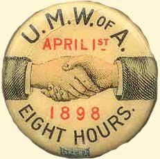 UMWA button