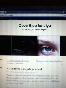Cove Blue for Jiyu dolphin blog